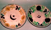 Moor plates with red crescent