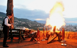 Bosnian man fires cannon to mark end of daily fast