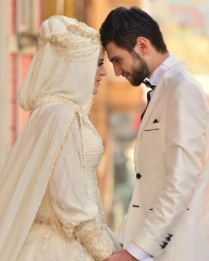 Turkish bridal couple
