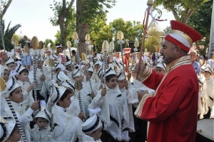 Mass circumcision party of Turkish boys