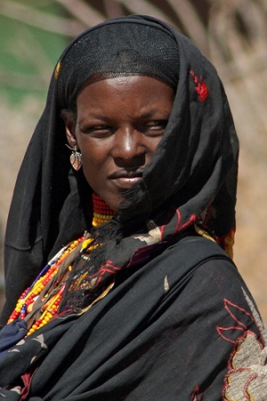 African Muslim woman in traditional attire