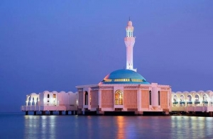 Mosque in Egypt neat the sea