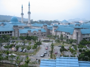 Islamic University in Malaysia with its domes and minarets