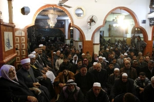 Palestinian Muslims at Mosque
