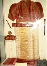 A Nilame costume said to belong to the Kandyan national hero Monaravila Keppetipola.