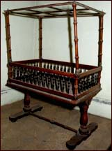 Baby crib made of ebony and satinwood