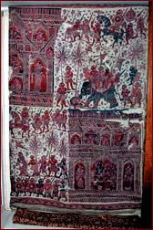 Somana cloth depicting Sinhala gladiators