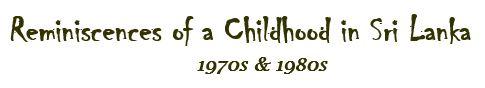 Reminiscences of a Childhood in Sri Lanka 1970s & 1980s