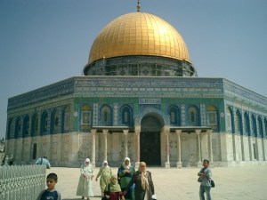 The Dome of the Rock, Jerusalem whence Prophet Muhammad ascended to heaven.