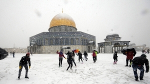 Dome of the Rock, Jerusalem in winter
