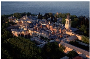 Topkapi Palace in Istanbul Turkey, the seat of the Ottomon Caliphs