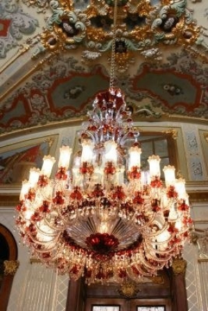 Chandelier in Dolmabahce Palace